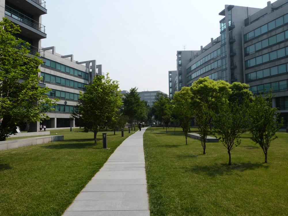 En el Campus de Lenovo en Pekín